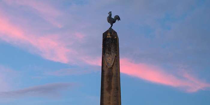 Luces de Francia / Obelisco con gallo galo / Plaza de Francia, Panamá.<br /> <br /> Panorámica de 2 fotografías.<br /> <br /> Edición de 5 | Víctor Santamaría.