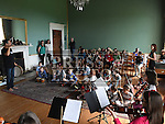 Children taking part in the music workshop at the Boyne Music Festival at Townley Hall House. Photo:Colin Bell/pressphotos.ie
