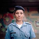 Police officer Fernanda Ara&uacute;jo, 31. <br /> Administration<br /> Pacifying Police Unit<br /> Complexo do Caju, Rio de Janeiro, Brazil