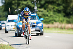 SITTARD, NETHERLANDS - AUGUST 16: Matti Breschel of Denmark riding for Saxo-Tinkoff competes during stage 5 of the Eneco Tour 2013, a 13km individual time trial from Sittard to Geleen, on August 16, 2013 in Sittard, Netherlands. (Photo by Dirk Markgraf/www.265-images.com)
