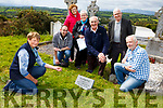 Mary Howard Kilcummin Historical graves points out a long lost relatives grave to the Fleming family from Curracity in Kilcummin Graveyard on saturday l-r: Kieran and Joan Fleming, Cationa Dunlea, Jimmy Fleming, Mike Somers and Seamus Fleming
