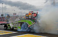 Jun. 2, 2012; Englishtown, NJ, USA: NHRA funny car driver Alexis DeJoria during qualifying for the Supernationals at Raceway Park. Mandatory Credit: Mark J. Rebilas-