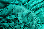 Blue Silk 01 - Turquoise blue layered silk shawl.