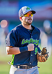 16 July 2017: Vermont Lake Monsters infielder Ryan Gridley, an 11th round draft pick for the Oakland Athletics, returns to the dugout during a game against the Auburn Doubledays at Centennial Field in Burlington, Vermont. The Monsters defeated the Doubledays 6-3 in NY Penn League action. Mandatory Credit: Ed Wolfstein Photo *** RAW (NEF) Image File Available ***