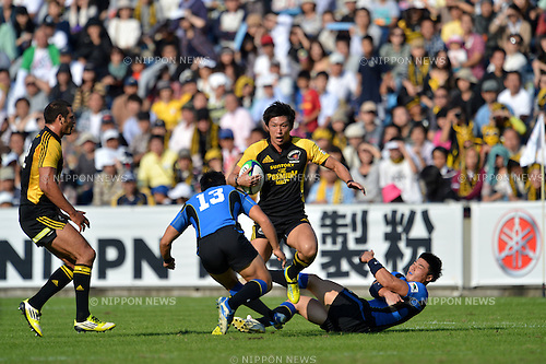 Koji Taira (Sungoliath),.OCTOBER 20, 2012 - Rugby : Japan Rugby Top League 2012-2013, 7th Sec match between Suntory Sungoliath 34-20 Panasonic Wild Knights at Chichibunomiya Rugby Stadium, Tokyo, Japan. (Photo by Jun Tsukida/AFLO SPORT) [0003].