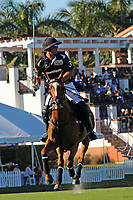 WELLINGTON, FL - DECEMBER 31:  Most Valuable Player Matt Coppola. Best Playing Pony Ventaja. Scenes from the Herbie Pennell Cup Final, at the International Polo Club Palm Beach, on December 31, 2017 in Wellington, Florida. (Photo by Liz Lamont/Eclipse Sportswire/Getty Images)