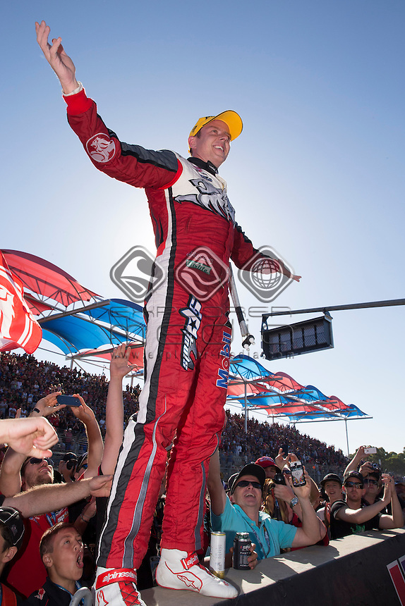 James Courtney of the Holden Racing Team winner of the Clipsal 500, Event 01 of the 2014 Australian V8 Supercars Championship Series at the , , , March 02, 2014.<br /> &copy; Sport the library / Mark Horsburgh