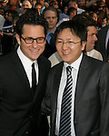 """HOLLYWOOD, CA. - April 30: J.J. Abrams and Masi Oka arrive at the Los Angeles premiere of """"Star Trek"""" at the Grauman's Chinese Theater on April 30, 2009 in Hollywood, California.a"""