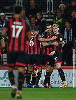 Bournemouth's David Brooks (right) celebrates scoring his side's second goal with team mates<br /> <br /> Photographer David Horton/CameraSport<br /> <br /> The Premier League - Bournemouth v Brighton and Hove Albion - Saturday 22nd December 2018 - Vitality Stadium - Bournemouth<br /> <br /> World Copyright © 2018 CameraSport. All rights reserved. 43 Linden Ave. Countesthorpe. Leicester. England. LE8 5PG - Tel: +44 (0) 116 277 4147 - admin@camerasport.com - www.camerasport.com