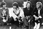 The DOORS 1968 John Densmore, Jim Morrison, Robbie Krieger, Ray Manzarek at The Roundhouse..© Chris Walter..
