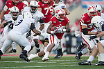 Wisconsin Badgers running back James White (20) carries the ball during an NCAA Big Ten Conference Football game against the Penn State Nittany Lions Saturday, November 30, 2013, in Madison, Wis. The Nittany Lions won 31-24. (Photo by David Stluka)