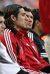 15 May 2004: Kevin Ara (center) and Thisago Martins (19) on the DC United bench before the game. DC United defeated the Kansas City Wizards 1-0 at RFK Stadium in Washington, DC during a regular season Major League Soccer game..