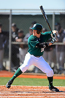 Chicago State University Cougars catcher Eric O'Brien #10 during a game against the St. Bonaventure Bonnies at South County Regional Park on March 3, 2013 in Punta Gorda, Florida.  (Mike Janes/Four Seam Images)