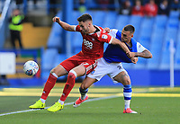 Ben Brereton of Nottingham Forest battles ball against Jack Hunt of Sheffield Wednesday during the Sky Bet Championship match between Sheffield Wednesday and Nottingham Forest at Hillsborough, Sheffield, England on 9 September 2017. Photo by Leila Coker / PRiME Media Images.