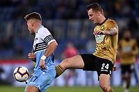 Ben Wilmot of Udinese, Ciro Immobile of Lazio <br /> Roma 17-4-2019 Stadio Olimpico Football Serie A 2018/2019 SS Lazio - Udinese <br /> Foto Andrea Staccioli / Insidefoto