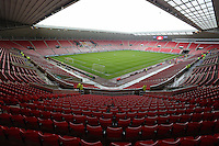 Pictured: Sunderland AFC, Stadium Of Light interior view. Sunday 11 May 2014<br />