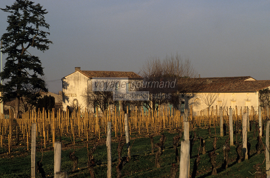 Europe/France/Aquitaine/33/Gironde/Pomerol: Le château Petrus et son vignoble [Non destiné à un usage publicitaire - Not intended for an advertising use]