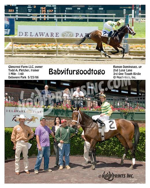 Babyifurgoodtogo winning at Delaware Park on 5/23/06