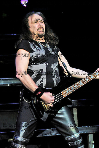 Judas Priest - bassist Ian Hill - performing live for the Teenage Cancer Trust Charity at the Royal Albert Hall in London UK - 31 Mar 2006.  Photo credit: George Chin/IconicPix