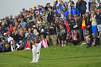 Patrick Reed (Team USA) on the 7th fairway during Friday Fourball at the Ryder Cup, Le Golf National, Iles-de-France, France. 28/09/2018.<br /> Picture Thos Caffrey / Golffile.ie<br /> <br /> All photo usage must carry mandatory copyright credit (© Golffile | Thos Caffrey)