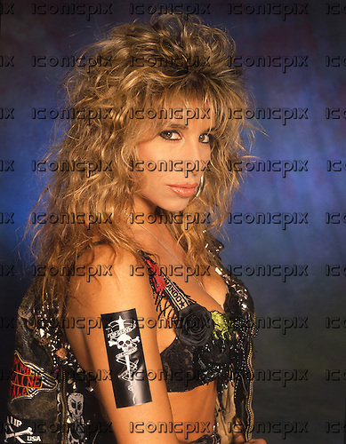 FEMME FATALE - Lorraine Lewis  - photosession in London UK - 1988.  Photo credit: Ray Palmer Archive/IconicPix
