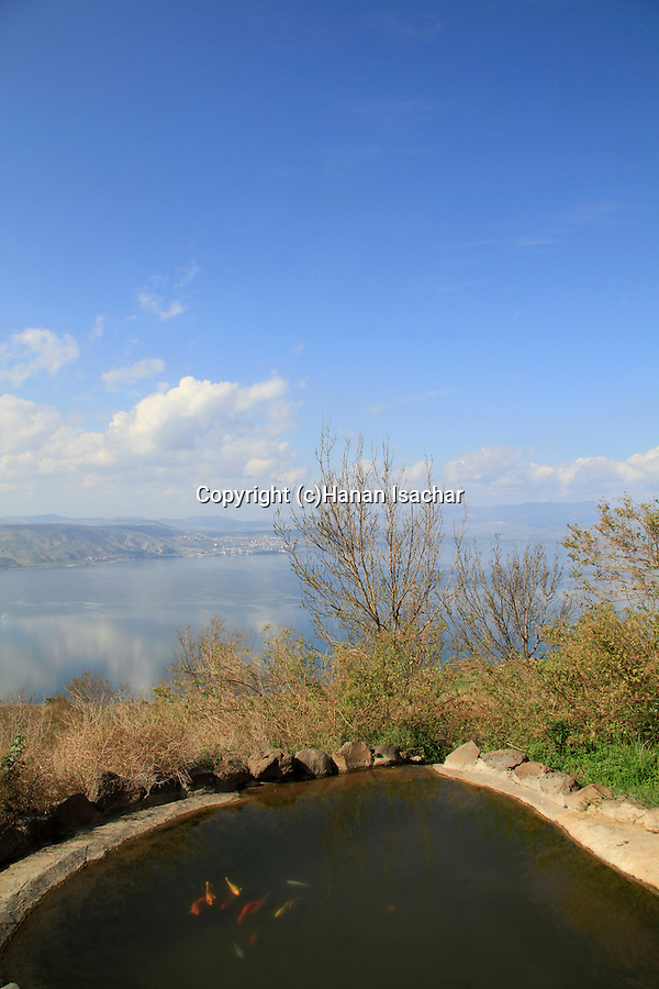 Golan Heights, Ein a-Tina (Ein Shoko) overlooking the Sea of Galilee