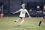 Monreau DeVos (27) of the Wake Forest Demon Deacons during first half action against the Pitt Panthers at Spry Soccer Stadium on September 15, 2017 in Winston-Salem, North Carolina.  The Demon Deacons defeated the Panthers 2-0.  (Brian Westerholt/Four Seam Images)