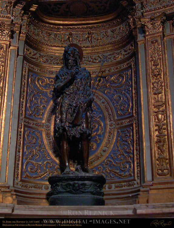 St. John the Baptist, Donatello Donato di Niccolo di Betto Bardi c. 1457-60, Chapel of St. John the Baptist, North Transept, Cathedral of Siena, Santa Maria Assunta, Siena, Italy