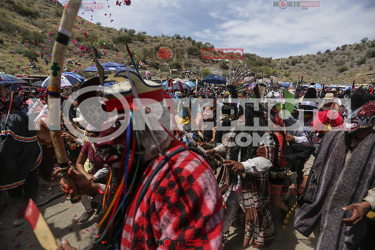 Pharisees of Yaqui tribe perform the ritual burning of masks during the Saturday of Glory in the Coloso Alto colony as part of Lent in Sonora, Mexico.