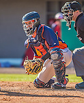 5 March 2013: Houston Astros catcher Rene Garcia in action during a Spring Training game against the Washington Nationals at Space Coast Stadium in Viera, Florida. The Nationals defeated the Astros 7-1 in Grapefruit League play. Mandatory Credit: Ed Wolfstein Photo *** RAW (NEF) Image File Available ***
