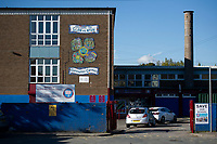 "Pictured: A general view of Glan-yr-Afon Primary school in, Cardiff, South Wales, UK. Monday 29 October 2018<br /> Re: Head teacher Kevin Thomas has been sentenced for sexually assaulting a woman in his office at a Cardiff primary school.<br /> 46 year old Thomas, of Cardiff, attacked the woman after becoming ""infatuated"" with her, the Crown Court heard.<br /> Thomas, a married father of two, was cleared of one count of assault but found guilty of another. <br /> He was suspended from his job at Glan-yr-Afon Primary school in, Cardiff, in March 2017 after the allegations.<br /> The court had previously heard how he had emailed the woman repeatedly expressing his feelings for her."