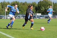 VOETBAL: HEERENVEEN: 05-10-2013, Sportpark Skoatterwâld, Damesvoetbal VV Heerenveen - VIOD, uitslag 4-0, Marissa Elzinga (#5) VIOD, ©foto Martin de Jong