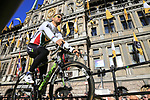 Rei Jense Van Rensburg (RSA) Team Dimension Data on stage at sign on before the 101st edition of the Tour of Flanders 2017 running 261km from Antwerp to Oudenaarde, Flanders, Belgium. 26th March 2017.<br /> Picture: Eoin Clarke | Cyclefile<br /> <br /> <br /> All photos usage must carry mandatory copyright credit (&copy; Cyclefile | Eoin Clarke)