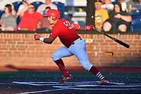 Johnson City Cardinals Aaron Antonini (53) swings at a pitch during game two of the Appalachian League, West Division Playoffs against the Bristol Pirates at TVA Credit Union Ballpark on August 31, 2019 in Johnson City, Tennessee. The Cardinals defeated the Pirates 7-4 to even the series at 1-1. (Tony Farlow/Four Seam Images)