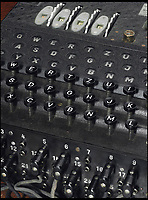 BNPS.co.uk (01202 558833)<br /> Pic: SherborneSchool/BNPS<br /> <br /> German Enigma machine.<br /> <br /> The nephew of Sir Alan Turing has called for his valuable possessions to be returned to the school they were stolen from 36 years ago after they were rediscovered by the FBI in the US.<br /> <br /> The Enigma codebreaker's Princeton degree, OBE medal and some of his school reports and letters were gifted by his mother Ethel to Sherborne School in Dorset in the 1960s.<br /> <br /> The items were taken in 1984 with an apology note left in their place saying they will be 'well taken care of' and one day 'returned to this spot'.<br /> <br /> Remarkably, they have now been discovered in the home of a woman in Denver, Colorado, during an FBI search.