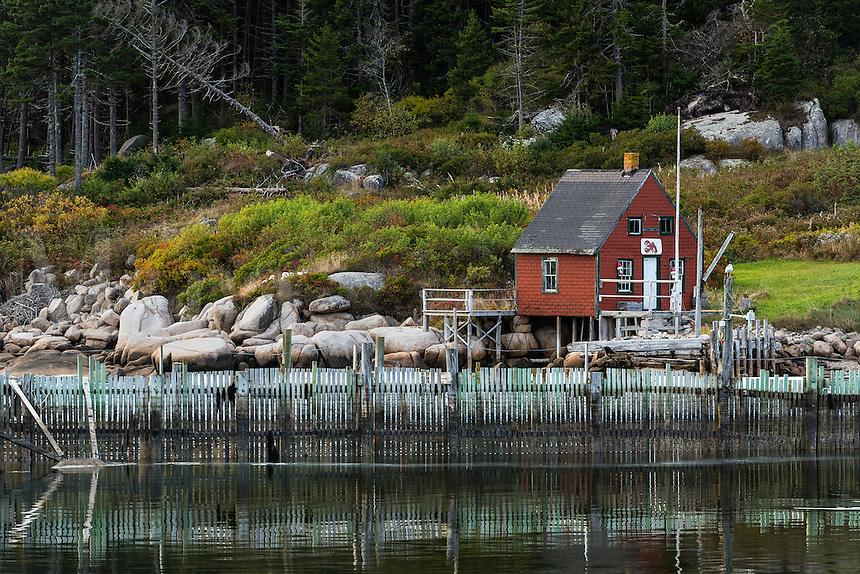 Fisherman's shack, Stonington, deer Isle, Maine, USA