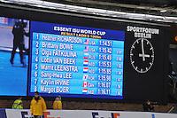 SCHAATSEN: BERLIJN: Sportforum, 08-12-2013, Essent ISU World Cup, 1000m Ladies Division A, result, ©foto Martin de Jong