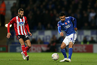 Andre Dozzell of Ipswich Town and Jorge Grant of Lincoln City during Ipswich Town vs Lincoln City, Emirates FA Cup Football at Portman Road on 9th November 2019