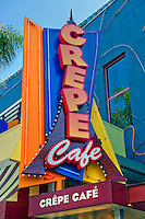 Crepe Cafe, Universal City, CA, Citywalk, Universal studios, holiday,  travel, us, usa, vacation,
