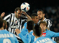 Andrea Pirlo    in action during the Italian Serie A soccer match between SSC Napoli and Juventus FC   at San Paolo stadium in Naples, March 30 , 2014