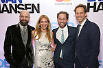 Peter Nigrini, Emily Rebholz,Japhy Weideman and David Korins attends the Broadway Opening Night After Party for 'Dear Evan Hansen'  at The Pierre Hotel on December 3, 2016 in New York City.