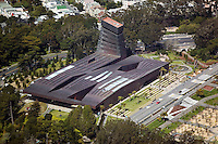 aerial photograph M. H. de Young fine art museum San Francisco California Golden Gate park, Jacques Herzog Pierre de Meuron