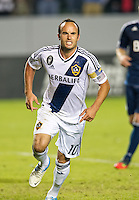 CARSON, CA - November 1, 2012: LA Galaxy midfielder Landon Donovan (10) celebrates his goal during the LA Galaxy vs the Vancouver Whitecaps FC at the Home Depot Center in Carson, California. Final score LA Galaxy 2, Vancouver Whitecaps FC 1.