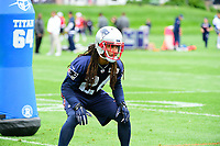 June 7, 2017: New England Patriots cornerback Stephon Gilmore (24) works on drills at the New England Patriots mini camp held on the practice field at Gillette Stadium, in Foxborough, Massachusetts. Eric Canha/CSM
