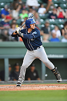 Center fielder Cole Anderson (16) of the Asheville Tourists in a game against the Greenville Drive on Tuesday, May 2, 2017, at Fluor Field at the West End in Greenville, South Carolina. Asheville won, 7-1. (Tom Priddy/Four Seam Images)