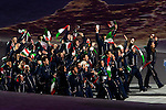 Olympic team of Italy during the parade of nations at the Opening ceremony of the 2014 Sochi Olympic Winter Games at Fisht Olympic Stadium on February 7, 2014 in Sochi, Russia. Photo by Victor Fraile / Power Sport Images