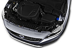 Car stock 2017 Volvo S60 T5 Platinum 4 Door Sedan engine high angle detail view