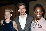 Linky Boots: Annaleigh Ashford, Stark Sands & Billy Porter attending the 2013 Tony Awards Meet The Nominees Junket  at the Millennium Broadway Hotel in New York on 5/1/2013...