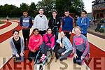 Enjoying the Kerry ETB students Athletics Day at An Riocht Castleisland on Tuesday were Front l-r Amy Griffin, Sami Elli, Norelle Quirke, Elizabeth Spain, Back l-r Jan Ackleberry, Loclin Tooey, Padraig O'Sullivan, Kieran Duggan, Jacopo Andolina<br /> Col&aacute;iste Gleann L&iacute;<br /> Tralee