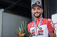 Jelle vanender (BEL/Lotto Soudal) on podium after finishing 3th place. <br /> <br /> 82nd La Flèche Wallonne 2018<br /> 1 Day Race: Seraing - Huy (198,5km)